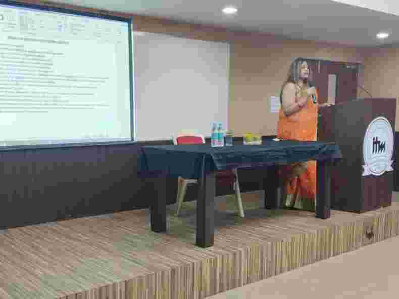 ITM IHM Guest Lecture by Ms. Soniya Gore