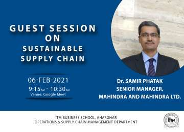 Operations & SCM Department  Report on Sustainable Supply Chain