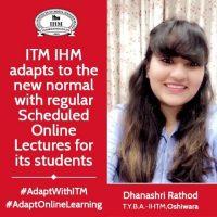 IHM - Online lecture students experience, Dhanashri Rathod