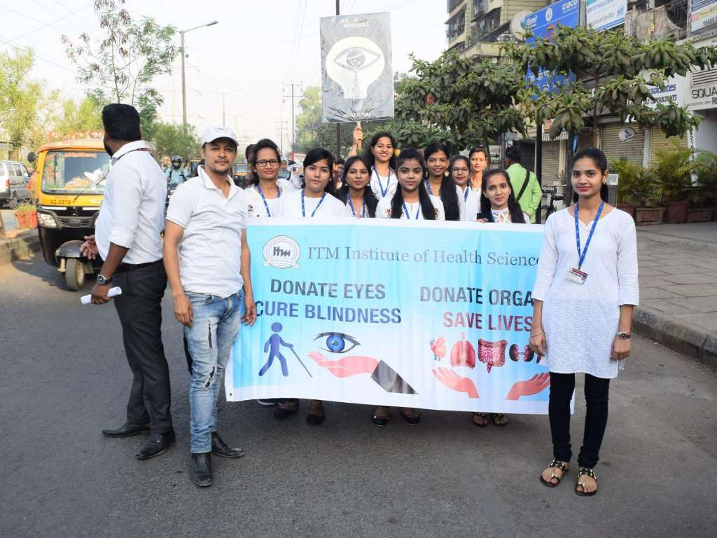 World optometry day celebration at ITM IHS Panvel.