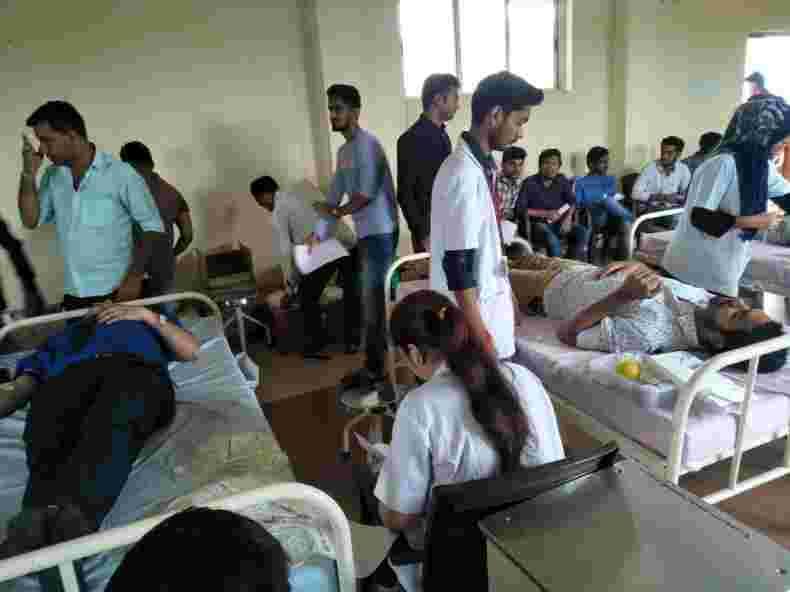 VU Blood Donation Camp and NABL/NHBL Training